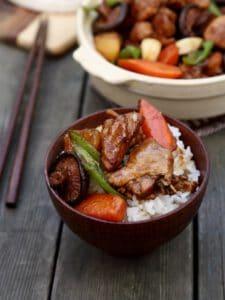 chinese braised chicken rice