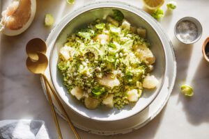 raw brussels sprout salad